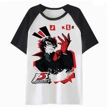 58be4677ac8e1 Persona 5-Joker camiseta hop camiseta hip tee top hombres harajuku para  ropa de calle divertido hombre C2773