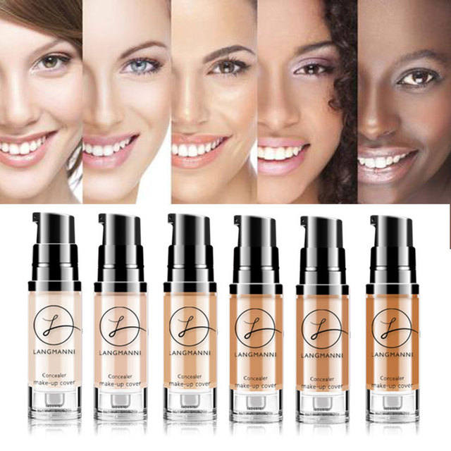 Suave mate líquido Base cambio de color Base corrector alta cobertura completa maquillaje mate Tono de cara