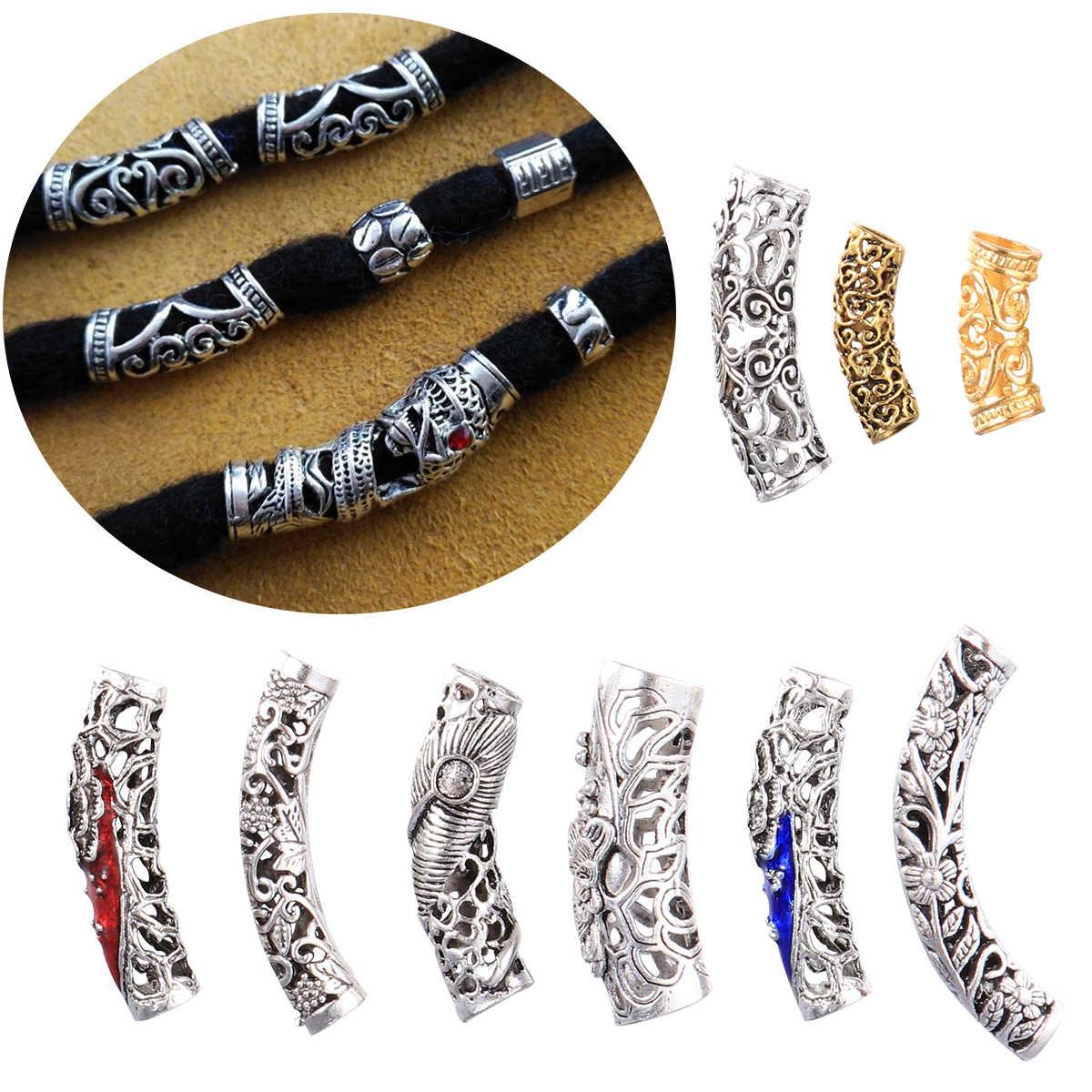 18pcs Hair Cuffs Dreadlocks Plated Metal Decorative Tube Braiding Beads Hair Braid Rings Dread Locks Ring For Men Women Aliexpress