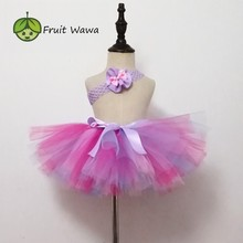Юбка-пачка ручной работы для девочек с единорогом, балетная юбка, танцевальный праздничный костюм с юбкой-пачкой, одежда для дня рождения, многослойная юбка-пачка