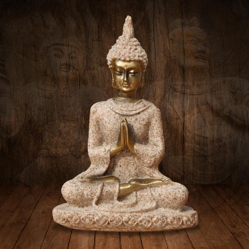 Sandstone Golden Buddha Statue 2