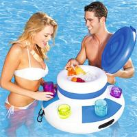 Inflatable Ice Bucket Bag Swimming Pool Float PVC Plastic Water Play Drink Bottle Cup Holder Pool Party Floating