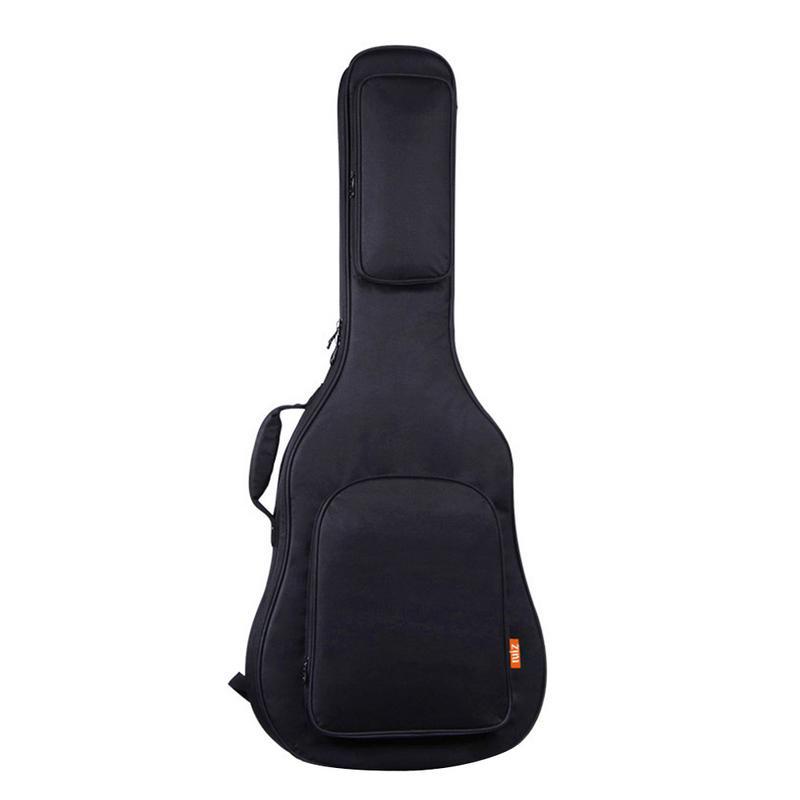 Утолщенная музыкальная сумка для гитары, музыкальные аксессуары, акустическая сумка, губка для гитары, функция 39, 40, 41 дюймов, черные сумки, защитный чехол