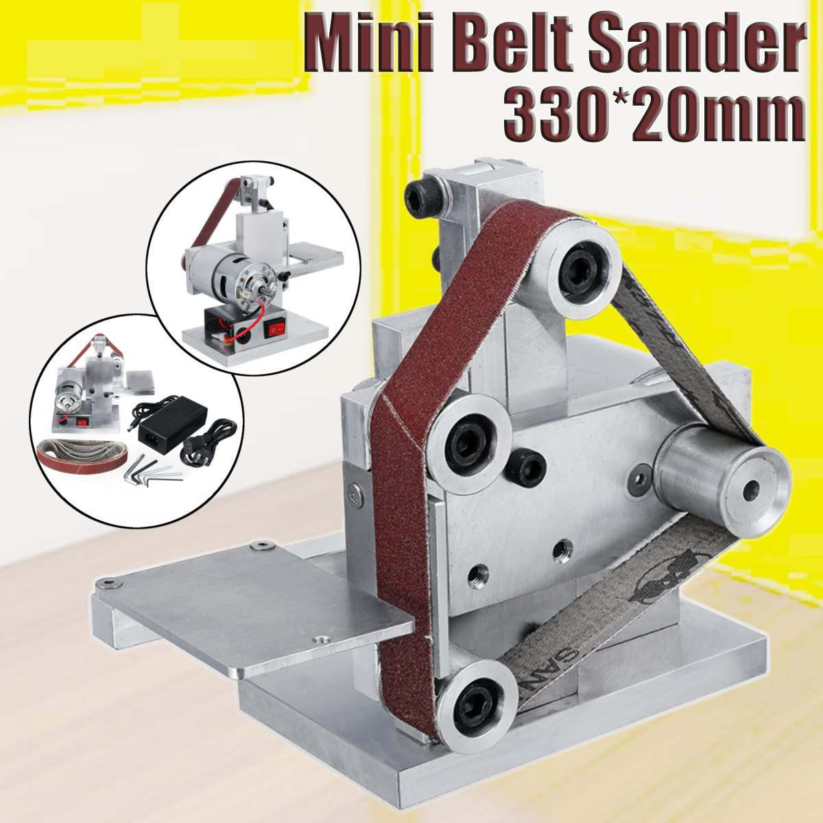 330x20mm Mini Belt Sander Machine Diy Sanding Grinding
