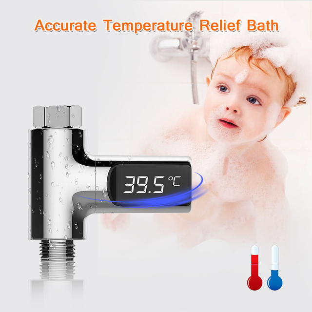 LED Display Water Shower Thermometer for Baby Care