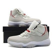 lowest price 4ac1e b3b26 Nouveauté Jordan Retro 11 Platine de Teinte Hommes Rouge Logo chaussures de  basket Haute Couper En Plein Air des chaussures de c.