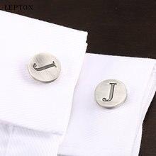 Запонки lepton j с буквами алфавита для мужчин классические