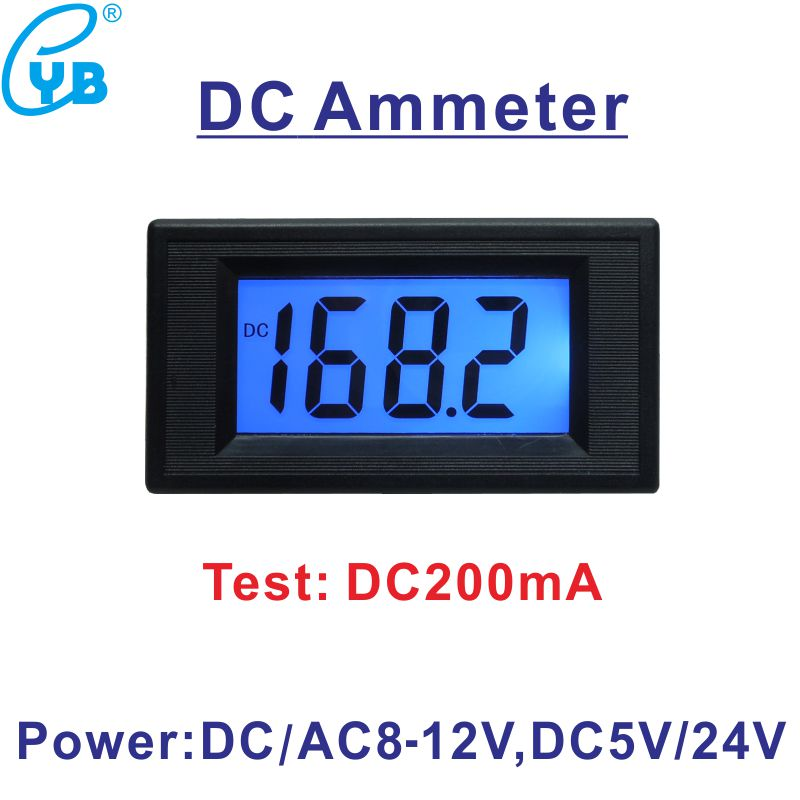 DC 0 200mA Current Meter Ampere Meter Amp Panel Meter