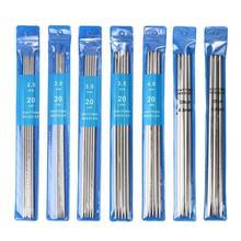 35 ピース/セット 20 センチメートルストレート針ステンレス鋼編みのフックため編 Diy 織りツール縫製アクセサリー
