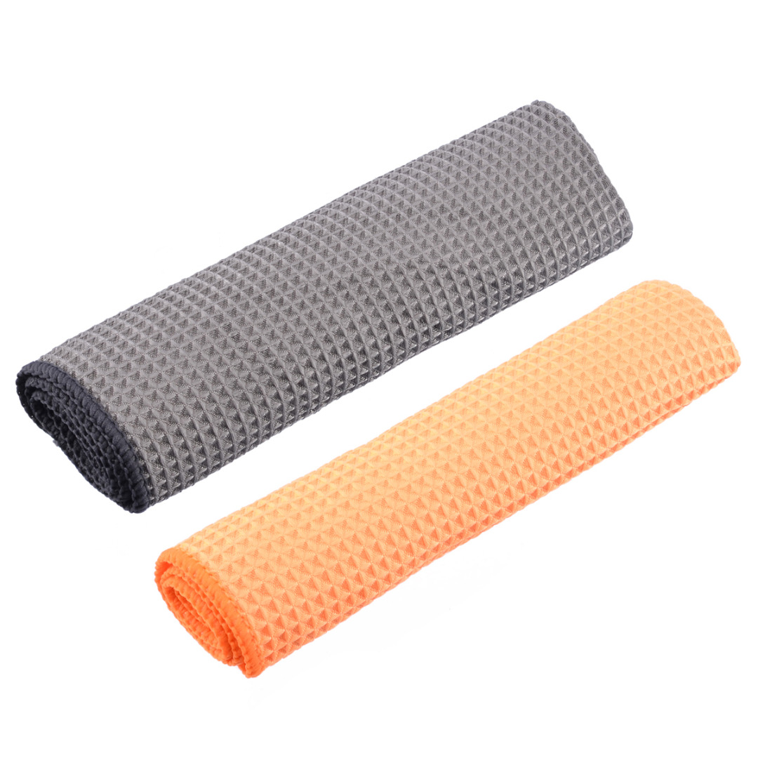Image 2 - Microfiber Waffle Pattern Towel Soft Car Cleaning Wash Dry Polishing Detail Cloth For Car Home Kitchen Window-in Sponges, Cloths & Brushes from Automobiles & Motorcycles