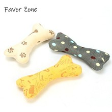 Popular Pet Dog Cat Bone Shape Toy Fleece Durability Plush Toys Squeak Sound Chew Molar Pillow Fit for All Pets Supplies