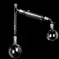 KICUTE 1000mL 24/40 Distillation Apparatus Vacuum Distill Kit With Vigreux Column Laboratory Glassware