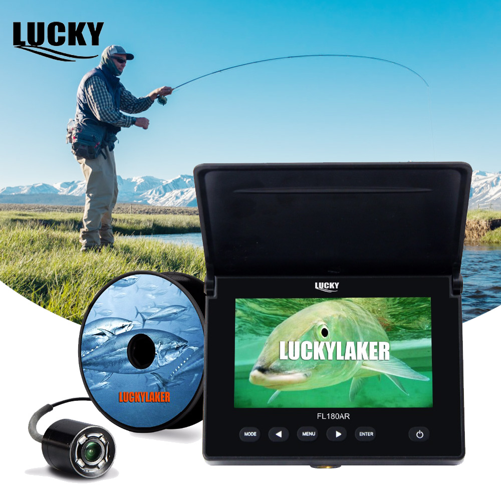 LUCKY Fish Finder Underwater Camera for Fishing Fishfinder Ice Fishing Video Camera Kit Fish Finder RGB 16G IR Night Vision 7 tft lcd fishing camera kit fish finder hd 700tvl ccd sensor underwater video camera system night vision fishing video camera