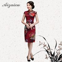 2019 Fashion Gilding Long Cheongsam Satin Chinese Traditional Dress Wedding Qipao Dresses China Bride Traditions Mother Qi Pao