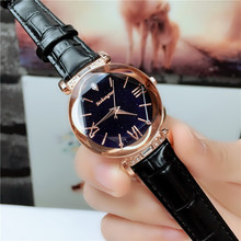 Hot Style Waterproof Quartz Watch for Young Fashion Simple Star Black Red Rope Strap Wirst Watches