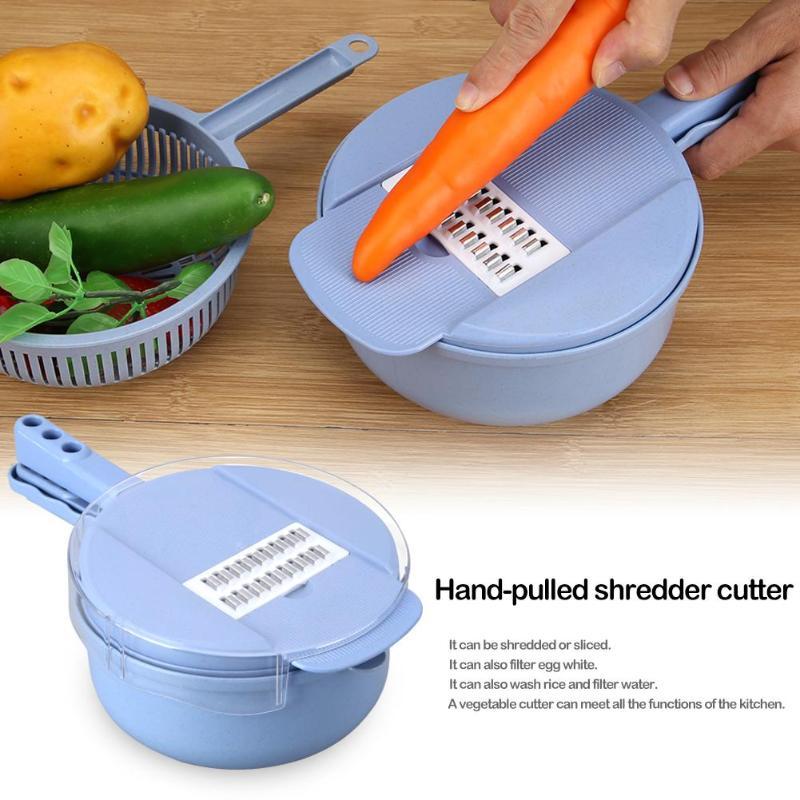 trancheuse /à Fruits YJR R/âpe Domestique Multifonction Accessoires de Gadget de Cuisine Hachoir /à l/égumes r/églable