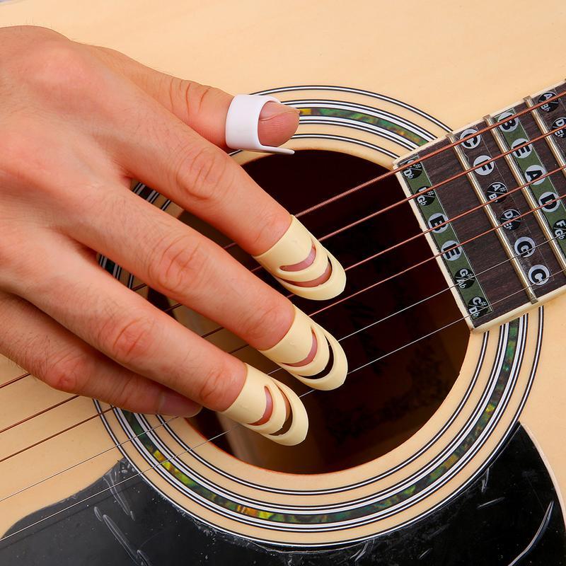 3 Pcs ALaska Pick Index Finger Picks For Acoustic Electric Guitar Stringed Instrument M/L Guitar Accessories