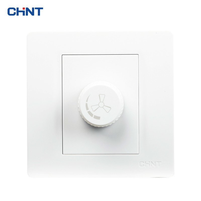 CHINT Electric Fan Wall Switch 86 Type Panel NEW7N  Adjust Speed Free Shipping