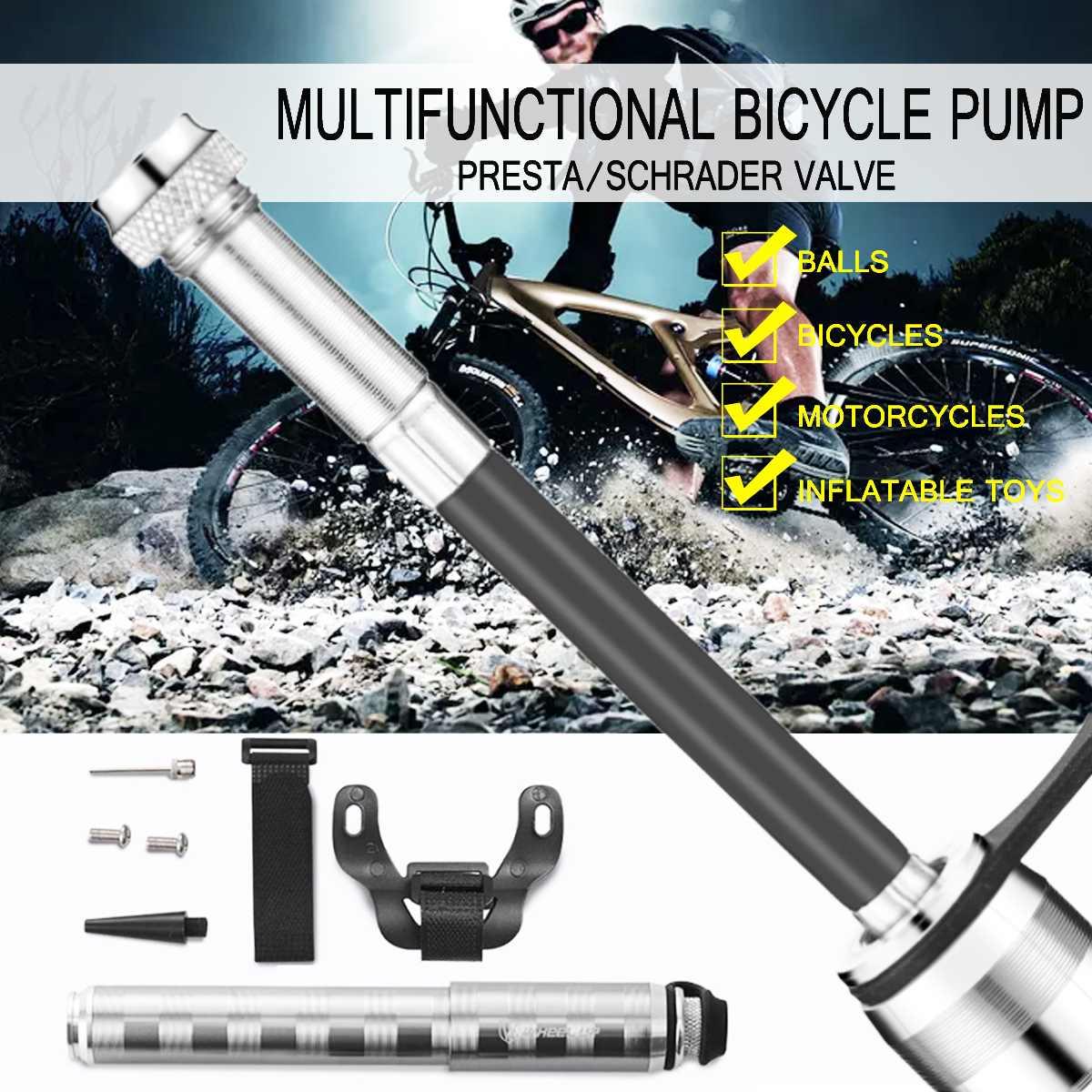 Pompe à vélo multifonctionnelle pompe à vélo à pousser la main Mini pompe à Air de vélo Portable pour roue vers le haut pour les boules de vélo jouet gonflable