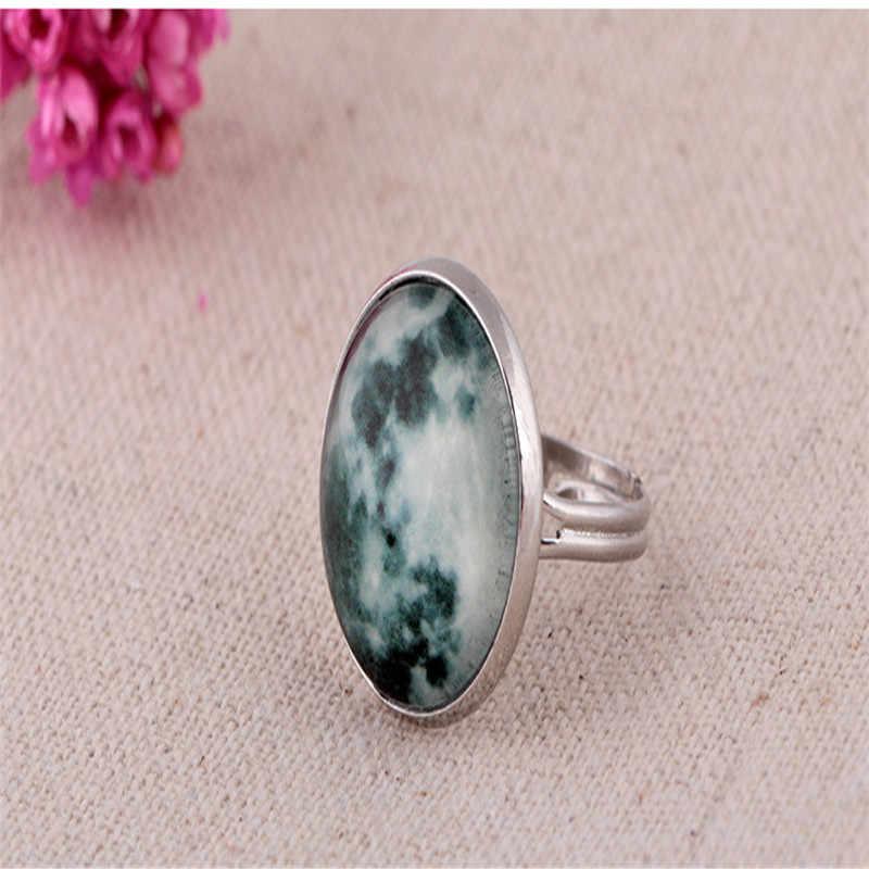 Glow In The Dark Runde Ring Für Frauen Mond Leuchtende Ringe Vintage-Mode Ring Für Männer Hochzeit Ringe Für Damen schmuck Geschenke