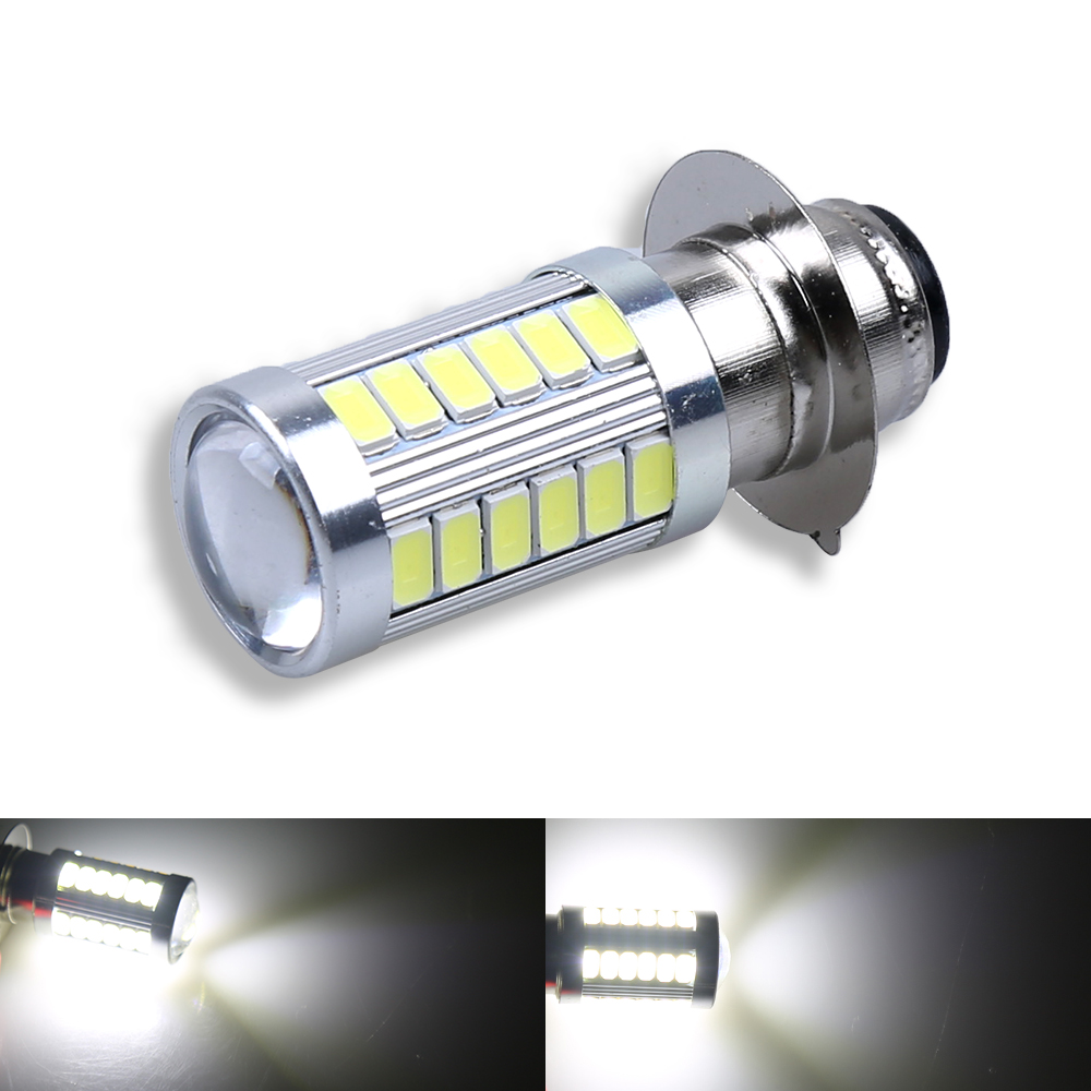 1X PX15D 33 SMD H6M <font><b>LED</b></font> <font><b>Fog</b></font> light <font><b>Lamp</b></font> Auto Motorcycle/Motor Bike/ Headlights High/Low Beam Bulb 12V image