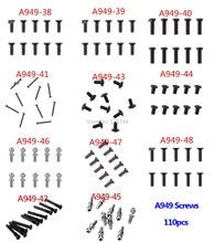 110 sztuk śruby piłka okrągła śruba z łbem płaskim dla Wltoys A949 A959 A959 B A969 A979 części do zdalnie sterowanego samochodu A949 38 A949 39 A949 40 A949 41