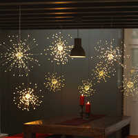 150LEDs DIY LED Fairy String Light 8 Modes Hanging Starburst Holiday Light with Remote Control Decoration Outdoor Twinkle Light