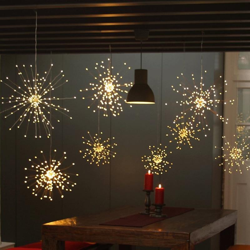 FOR VIP - TecnoBox Store ---100LEDs 120LEDs 150LEDs DIY LED Fairy String Light 8 Modes Hanging Starburst Holiday Light