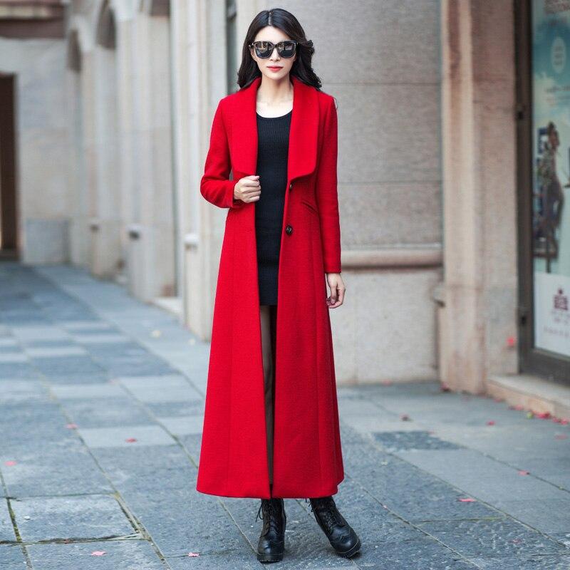 De Supérieure D'hiver Long Rouge Manteau Laine Qualité Tendance Paragraphe Pardessus Contenu 55 Femmes Cachemire Red Collier Style En Rwx0wqdg
