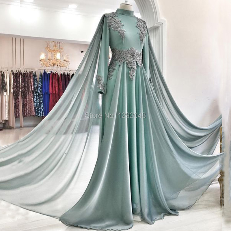 Ynqnfs Ed15 Robe Soiree Dubai Kaftan Abendkleider Long Sleeve Beaded Lace Applique Muslim Hijab Evening Dress Bridesmaid 2020 Bridesmaid Dresses Aliexpress