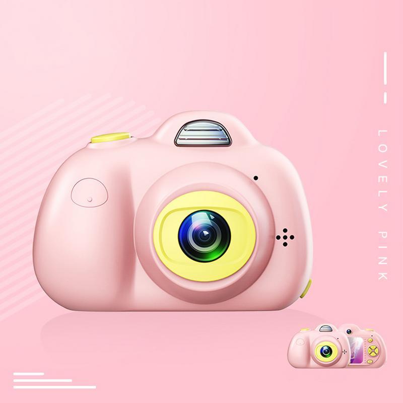 Enfants mignon Animal jouet caméra Mini appareil photo numérique petit reflex Double-lentille sport jouet caméra pour enfants - 4