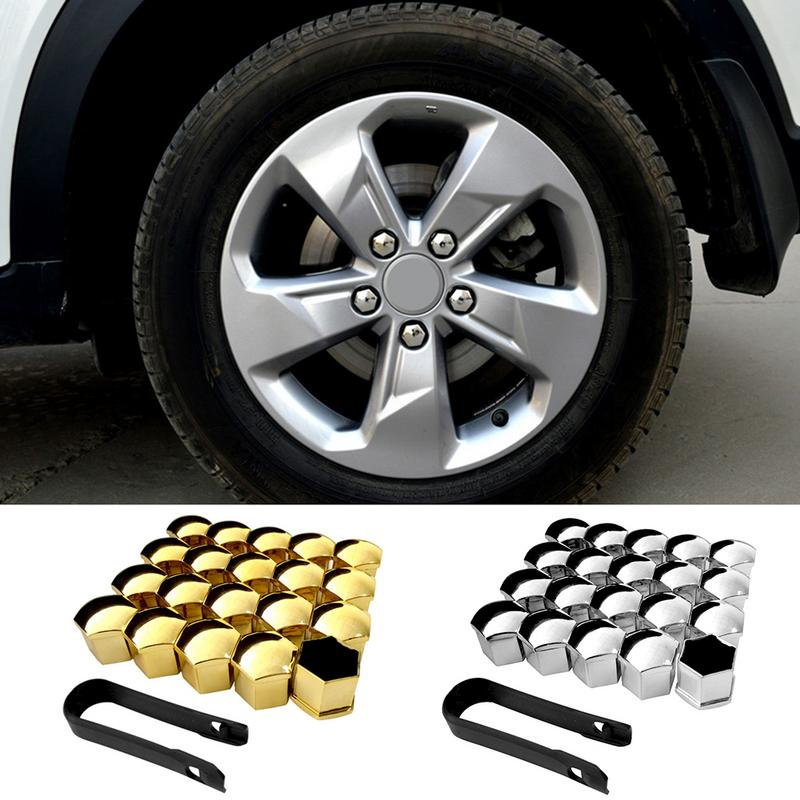 20pcs/Set <font><b>Car</b></font> <font><b>Silicone</b></font> <font><b>Wheel</b></font> Caps <font><b>Nut</b></font> Screw Bolt <font><b>Cover</b></font> Tyre Dust Screw Protective <font><b>Cover</b></font> With Clip 17/19/21mm image