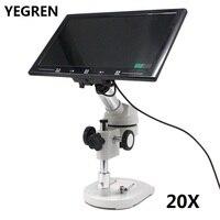 20X видео микроскоп с 20X UP right изображение цифровой Монокуляр рассеивающий микроскоп 360 градусов вращающийся экран головы