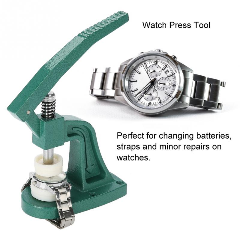 Professional Crystal Watch Press Tool Wristwatch Back Case Cover Pressing With Dies Professional Watch Repair Tool Watchmaker