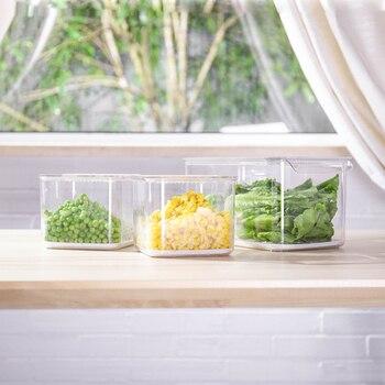 корзина для хранения фруктов | Еда класс 3 шт. кухня хранения холодильник коробки фрукты овощи Crisper пластиковые ящики для хранения корзина для фруктов закрыть коробки