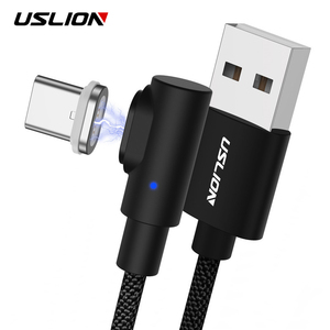 USLION 90 Degree Magnetic Charger Micro USB Cable Fast Charging usb Type C  Cable for Samsung/Xiaomi/iPhone Android Phone 3A| | - AliExpress
