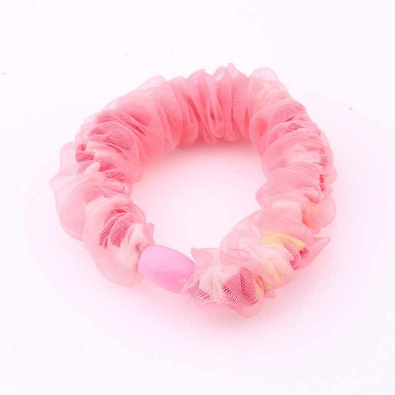 Fashion Scrunchies For Children Flower Print Chiffon Rubber Band For Girls Fabrics Scrunchy Elastic Hair Bands High Elasticity