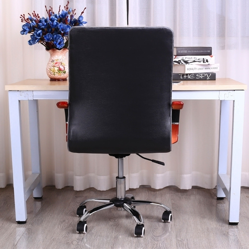 Купить с кэшбэком Simple Household Computer Chair Lifted Rotated Office Boss Chair Multi-function Swivel Chair Fixed Wooden Armrest Study Stool