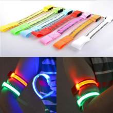 LED Reflective Light Arm Armband Strap Safety Belt For Night Running Cycling Hand Strap Wristband Wrist Bracelets #18(China)