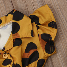 Baby Girl Ruffle Leopard Heart Print Romper Jumpsuit Outfits