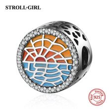 New arrival 925 Sterling silver charms beads Sunrise by the sea Fit original Pandora bracelet fashion Jewelry Making Women gift