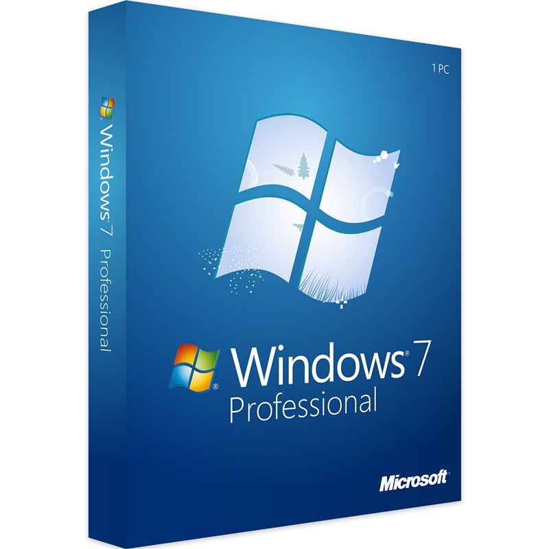 Microsoft Retail-Box Product-Key Professional Windows-7 Code-Support Download Digital