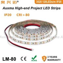 3528 120LEDs/m LED Strip,CRI80 RA80 IP20,DC12V/24V 9.6W/m 600LED,5meter/Reel Non-waterproof for indoor living room hotel