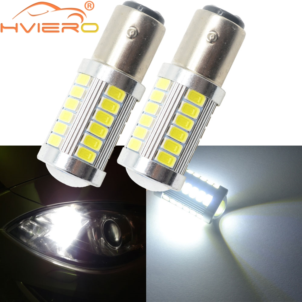 2x 1156 bau15s py21w 33 car stop lamp rear lamp smd led flashing yellow light