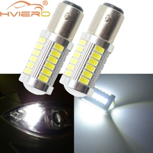 цена на 2X 1156 BA15S P21 5W 5630 S25 33 LED Car Tail Bulb Brake Lights Auto Reverse Lamp Daytime Running Light Red White Yellow DC 12V