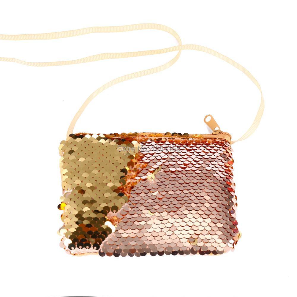 Kinder Baby Mädchen Jungen Kinder Schulter Tasche Handtaschen Mini Crossbody Pailletten Tasche Paket Süße Und Einfache Stil Crossbody-taschen Kinder- & Babytaschen