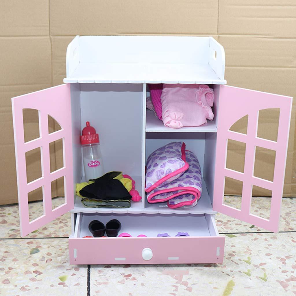 Simulation en bois Miniature armoire maison de poupée meubles poupée accessoires décoration semblant jouer jouets éducatifs pour les enfants