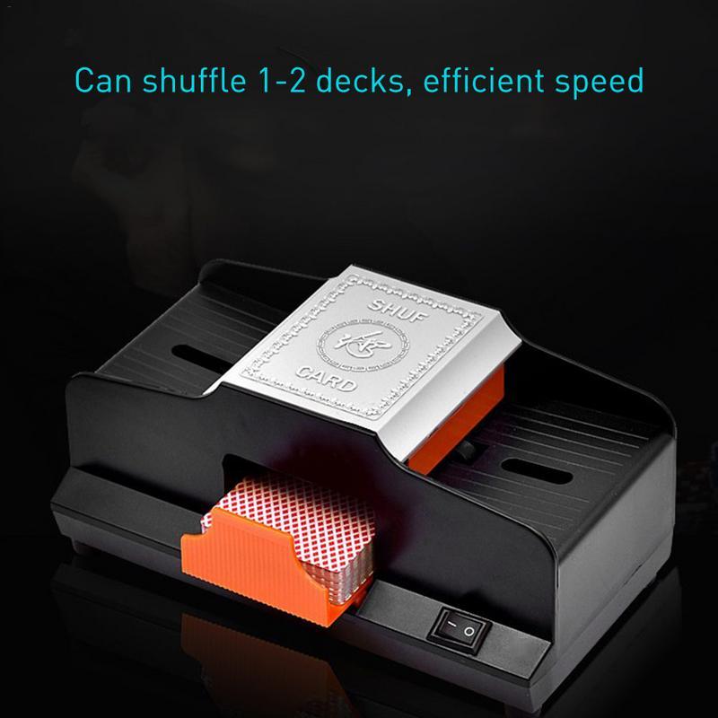 Professionnel Shuffler de Carte 1 2 Plate Formes Automatique À Grande Vitesse En Plastique Machine Brouillante Jeux De Cartes Shuffler - 4