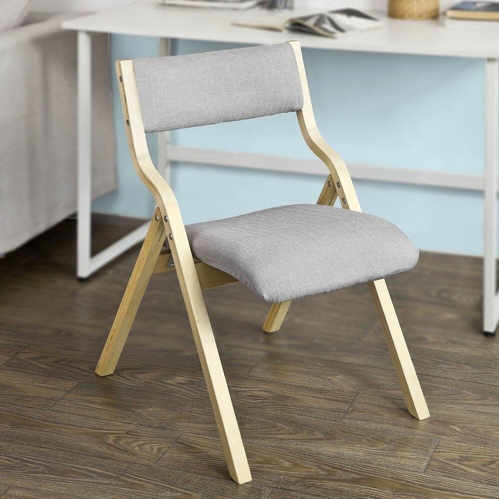 Sobuy Fst40 Hg Wooden Padded Folding Chair Office Living Room Dining Chair Living Room Chairs Aliexpress