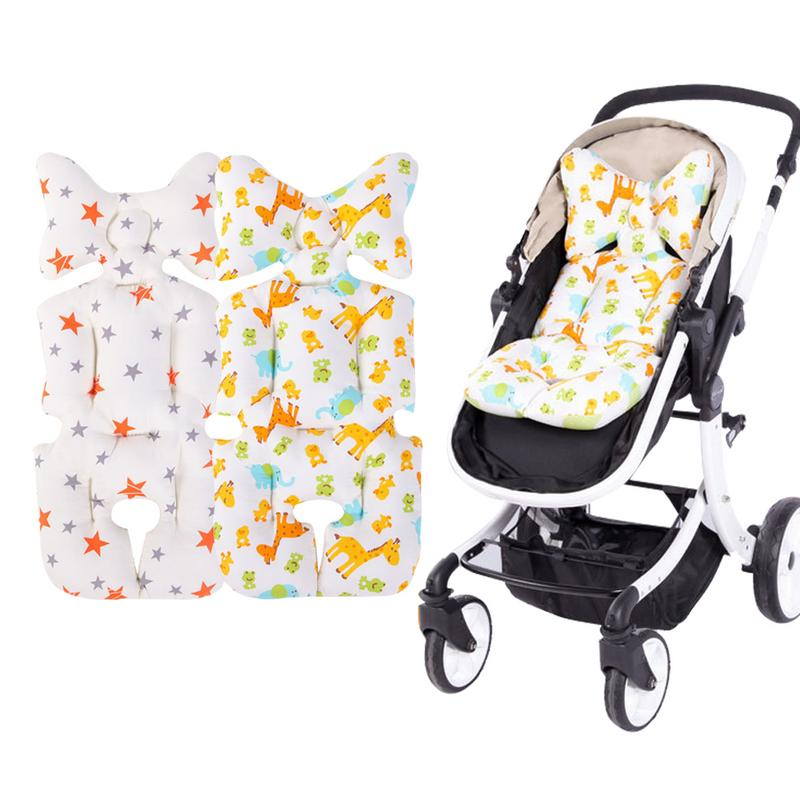 Baby Stroller Cotton Cushion Seat Cover Mat Breathable Soft Car Pad Pushchair Urine Pad Liner Cartoon Star Mattress Baby Cart Moderate Price Activity & Gear